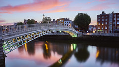 Ha´Penny (Jose Feito - www.atravesdelprisma.com) Tags: ha´penny ireland irlanda dublin viaje isla puente bridge jose feito atardecer noche luces