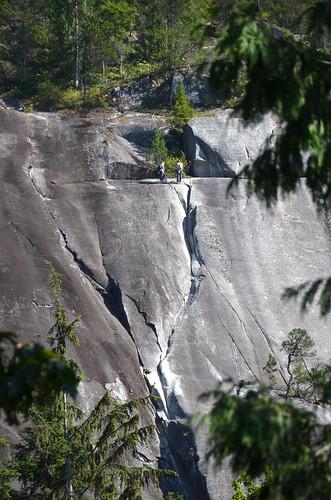 Climbing near Stawamus Chief