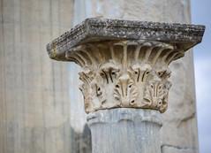 Corinthian capital (Adaptabilly) Tags: bokeh travel lumixg1 roman asia iphotooriginal turkey column decoration sky greek efes corinthian ephesos ephesus izmir tr