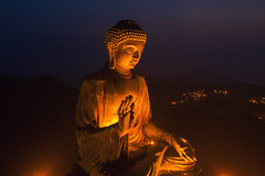 The Big Buddha (3dgor 加農炮) Tags: buddha bigbuddha drone mavic2pro night