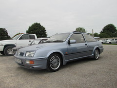 Ford Sierra RS Cosworth D587NCV (Andrew 2.8i) Tags: haynes motor museum breakfast meet sparkford yeovil somerset show classic classics cars car autos ford sierra rs cosworth turbo hatchback hot hatch uk unitedkingdom