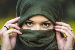 Look me in the eyes (randras83) Tags: eye nikon beauty browneye pretty outdoor just4fun d750 70200 people woman scarf