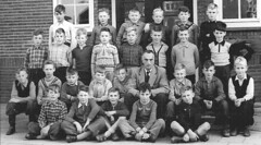 Class Photo (theirhistory) Tags: children kid boy girl school trousers jumper shoes wellies shorts teacher boots