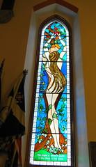 Stained Glass, Ferryhill Church, Aberdeen (Ian Robin Jackson) Tags: stainedglass aberdeen opendoorsday city scotland ferryhillchurch church window september unusual eve biblical sony zeiss