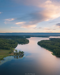 Early Hours (laurilehtophotography) Tags: suomi finland jyväskylä vaajakoski nature landscape summer clouds morning sunrise trees forest water lake reflections sky dji mavic pro fc220 aerial drone flight above awesome earth europe