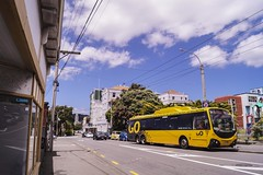 Aro Street (andrewsurgenor) Tags: transit transport publictransport nzbus gowellington electric trackless trolleybus trolleybuses wellington nz streetscenes bus buses omnibus yellow obus busse citytransport city urban newzealand