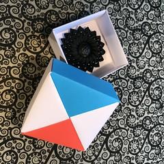 ORIGAMI BOXES (15) (JOHN MORGANs OLD PHOTOS.) Tags: made by john morgan 160 gsm card for my ribbon brooches origami boxes box