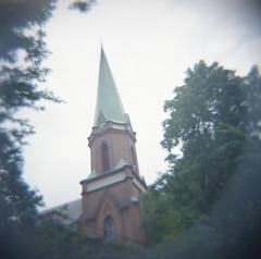 Johanneskyrkan (rotabaga) Tags: sverige sweden göteborg gothenburg diana lomo lomography ljusläckage lightleaks lomography400 expiredfilm mediumformat mellanformat 120 6x6