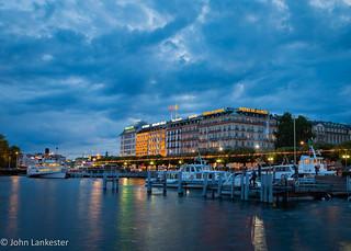 Geneva summer evening sky