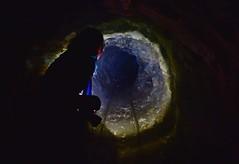 Spelunking in an abandoned mine (orientalizing) Tags: 19261978 abandoned cyclades emerymines greece industrialfacility islands mineshaft naxos nearskado railway rust stravolagada tunnels