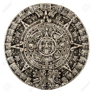 The mayan calendar isolated on white
