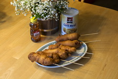 Corn Dogs (Sunset Sailor) Tags: corndog hotdog countryfair carnival food recipe