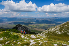 Dinara mountain, Bosnia and Herzegovina (HimzoIsić) Tags: landscape mountain hiking poeple grass green sky blue clouds hill outdoor nature