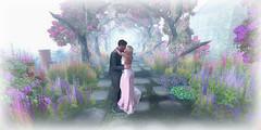 Something (Loegan Magic) Tags: secondlife meadowrose garden couple flowers arch love dancing