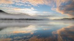 Achray Dawn (Justin Cameron) Tags: loch tighmor scotland lochachray trossachs leegraduatedfilter dawn mist clouds canon5dmkiii canonef1635mmf4lisusm longexposure highlands leeproglass