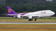 HS-TGB Thai Airways International Boeing 747-4D7 (Stefan Blok) Tags: forest ศรีสัชนาลัย sisatchanalai thailand old skies the of queen boeingb747 flughafenmünchenfranzjosefstraus munichairport hstgb thaiairways thai tha tg b744 muc eddm parkhaus aviation avgeek avia aviaporn avporn av heavy mun munich arrival boeing 747400 b747400