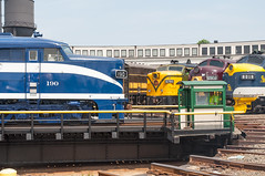 14-2580 (George Hamlin) Tags: north carolina spencer transportation museum streamliners special event nickel plate alco pa canadian national fpa4 roundhouse turntable historic diesel locomotive bluebird paint scheme photo decor george hamlin photography