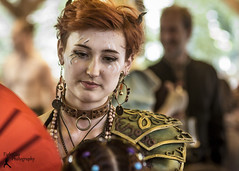 MDRF - GC (FightGuy Photography) Tags: mdrf rennfaire rennfest women naturallight fightguyphotography redhead gcchan horns shorthair armor pauldron