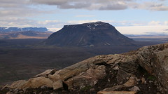 Hlöðufell af Rauðafelli (hó) Tags: hlöðufell rauðafell langjökull þórisjökull mountain glaciers wilderness highlands barren rocks hyaloclastite sky clouds desert snow august 2018