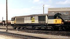 c.05/1990 - Worksop, Nottinghamshire. (53A Models) Tags: britishrail class58 58033 diesel freight train railway locomotive railroad worksop nottinghamshire