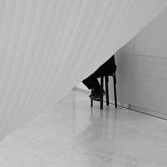 Gardien de l'art (cactus2016) Tags: danemark muséeaalborgdanemark atelierphoto expos noiretblanc minimalism blackandwhite absoluteblackandwhite