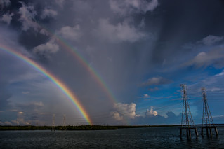 Rainbow, seen from Channel Island