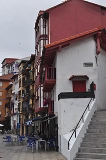 Quai Benanzio Nardiz, vieux port, Bermeo, comarque de Busturialdea, Biscaye, Pays basque, Espagne.