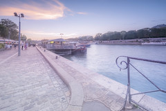 The sweet life in Paris (Sizun Eye) Tags: sweet pastel quay seine river paris boats peniche padlockoflove city france sizuneye nikond750 nikon1424mmf28 le longexposure nisifilters