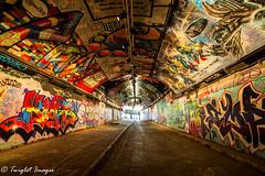 Street Art Or Graffiti (i dont care) (Twiglet Images) Tags: nikon d600 saturday london waterloo train station tunnel street art spray cans rollers capital city graffiti track rails network under