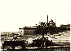 Mohamed Ali's Citadel Mosque - Cairo in 1930's. (Tulipe Noire) Tags: africa middleeast egypt cairo mohamed ali citadel mosque view 1930s