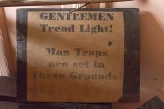 Beware of man traps (Carol Spurway) Tags: pockerleynewhouse pockerleyoldhall museum workingmuseum 1820s countydurham openairmuseum beamish stanley livingmuseum