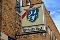 Upstairs Hall, Moline, IL (Robby Virus) Tags: moline illinois il old style beer sign signage upstairs hall