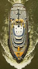 Dann Marine's Tugboat Ivory Coast (thetrick113) Tags: dannmarinetowing dannmarinetugboat dannmarine sonyslta65v tugboat hudsonriver river poughkeepsienewyork dutchesscountynewyork hudsonvalley hudsonrivervalley hudsonrivertugboat workingvessel boat vessel walkwayoverthehudson summer 2018 summer2018 wake marine water