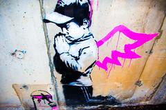 Banksy (Thomas Hawk) Tags: america banksy parkcity usa unitedstates unitedstatesofamerica utah angel boy graffiti praying stencil us fav10 fav25
