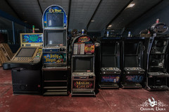 Lost Vegas Arcade, Belgium (ObsidianUrbex) Tags: abandoned arcade belgium cabinets casino digital photography gambling lost vegas slot machines slots urban exploration urbex video game