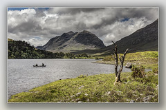 Anglers on Loch Clair (Bill McKenzie / bmphoto) Tags: lochclair liathach angling anglers ross rossshire highland scotland scenic best boats fishing trout seatrout salmon deadtree