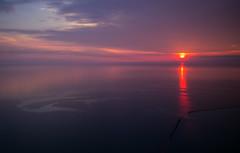 Lake Michigan Sunrise (romanboed) Tags: leica m 240 summicron 28 usa illinois summer chicago lake michigan sunrise aerial