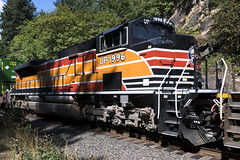UP 1996 (Tom Trent) Tags: oregon unitedstates us jasper lanecounty up unionpacific sp southernpacific heritageunit sd70ace emd diesel locomotive intermodal train rail freight