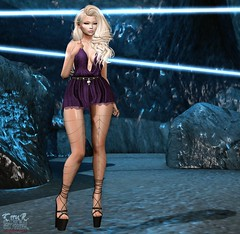 . Kiim . #Besom #Catwa #GlamAffair #Mossu #Phedora (Crayolas Clothes) Tags: besom catwa glamaffair mossu phedora dress heels legschains rocks light love purple black blue blond blondie doll dolly sweet sweety peru peruvian girl gurl lady female women woman maitreya belleza