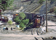 Utah's Bingham Canyon (jamesbelmont) Tags: train railroad railway riogrande drgw leadmine binghamcanyon oquirrhmountains saltlakevalley utah ut06l midvaletramp