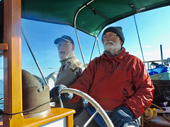 marv and Lar on Haven--John's photo (LarrynJill) Tags: larry marv haven boat sailboat