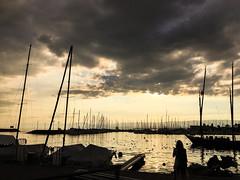 Ouchy (bertrandwaridel) Tags: 2018 august lakegeneva lakeleman lausanne lausanneouchy natalia nataliawaridel ouchy switzerland vaud boats clouds lake summer