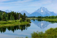 Tranquil Reflection (winston.chou) Tags: grandteton reflection tranquil tranquility lake river mountain glaciar trees morning