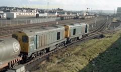 Falkland Yard 20201'043 trip from Dalry early 80's c672 (Ernies Railway Archive) Tags: ayr falklandyard gswr lms scotrail