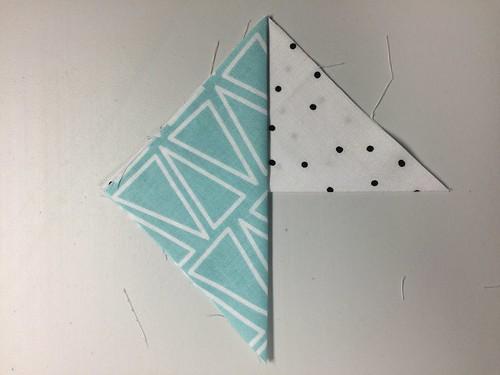 layering step 2 - fabric coasters