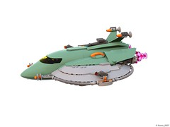 28 RETRO SPACE HERO'S SPACESHIP - Perspective (Nuno_0937) Tags: lego ideas classic space spaceship ship moc retro hero minifigure