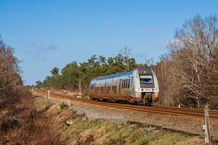 11 janvier 2015 B 81829 Train 721101 Saintes St-Mariens-St-Yzan Corignac