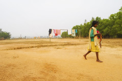 A waft of Wind_02 (Doctorbabaguy_1) Tags: village india bengal clothes wind color girl santhal