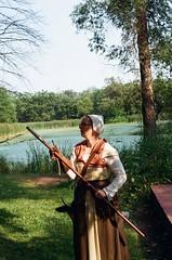 Hand Cannon (gjuarez49) Tags: renaissance fair lomography 100 minolta x700 film musket cosplay summer portait
