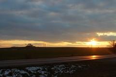 Sun and road (sijisu) Tags: dusk sunset twilight street light dramatic sky dawn boulevard moody sunrise road marking sun